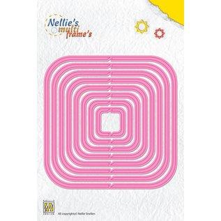 """Nellie Snellen Snij en embossing Mall: Multi Frame """"revolving square"""" 10,6 x 10,6 cm"""