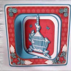 """Nellie Snellen Gabarit de découpe et de gaufrage: Multi Frame """"revolving square"""" 10,6 x 10,6 cm - 1 en stock"""