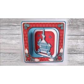 """Nellie Snellen skære og prægning skabelon: Multi Frame """"revolving square"""" 10,6 x 10,6 cm - 1 på lager"""