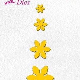 Nellie Snellen découpage et gaufrage modèles: fleurs, taille différente
