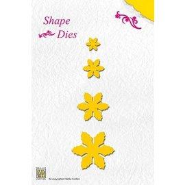 Nellie Snellen Plantillas de corte y estampado: flores, diferentes tamaños