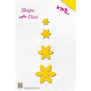 Nellie Snellen cutting and embossing templates: flowers, different size