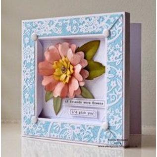Objekten zum Dekorieren / objects for decorating 3D Shadowbox, frame embossed with roses!