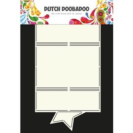 Dutch DooBaDoo A4 plast maske: Kort Art Star