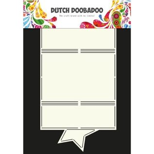 Dutch DooBaDoo A4 plastic template: Card type star