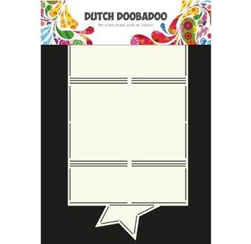 Dutch DooBaDoo A4 plastic template: Card type star