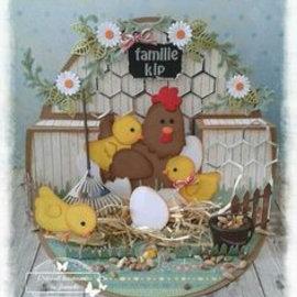 Marianne Design Skæring og prægning skabelon: mor kylling og kyllinger