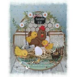 Marianne Design Plantilla de corte y estampado: madre pollo y pollitos