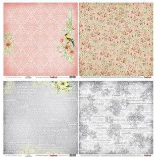 Designer Papier Scrapbooking: 30,5 x 30,5 cm Papier Designer paper, 15.5 x 15.5 cm, The Art of Nature