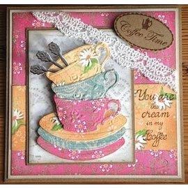 Karten und Scrapbooking Papier, Papier blöcke papier Designer, A5, Café la Patisserie
