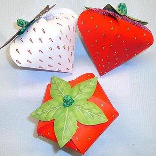 Dutch DooBaDoo A4 plastik maske: korttype, jordbær Set