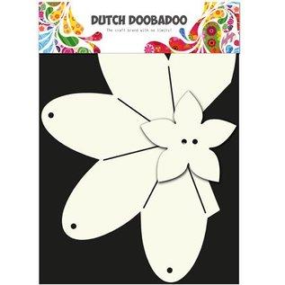 Dutch DooBaDoo A4 plastic template: Card Art, strawberry set