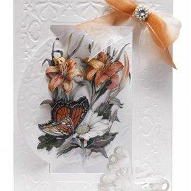 BASTELSETS / CRAFT KITS Conjunto de tarjeta de flor Bastelset