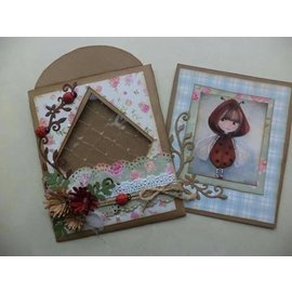 Dutch DooBaDoo A4 Plastik Schablone: Card Art, Envelop Art, square with diamond