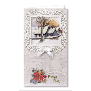 BASTELSETS / CRAFT KITS Complete card set, winter landscapes for 6 cards!