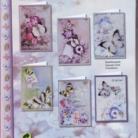 BASTELSETS / CRAFT KITS Ensemble complet de la carte, Grußkartenset Fleur