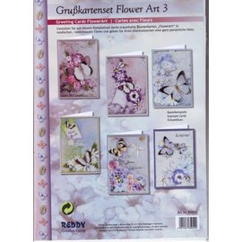 BASTELSETS / CRAFT KITS Compleet card set, Grußkartenset Flower