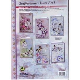 BASTELSETS / CRAFT KITS Conjunto de tarjeta completa, Grußkartenset flor