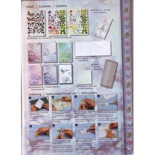 BASTELSETS / CRAFT KITS Complete card set, flower greeting card set