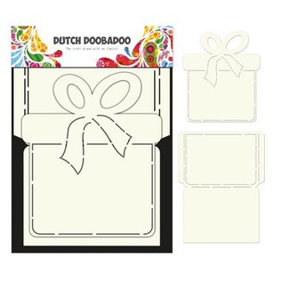 Dutch DooBaDoo A4 plastic template: Box Art Present Set