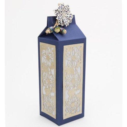 Dutch DooBaDoo A4 Plastic Template: Box Art Milk Carton