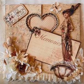 Nellie Snellen plantilla de perforación: Magic Card, corazón