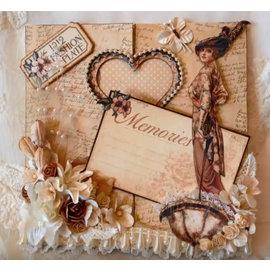 Nellie Snellen Modèle de poinçonnage: Carte Magie, coeur