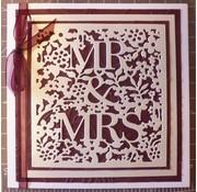 Docrafts / X-Cut Schneiden und Präge Schablone: Mr & Mrs