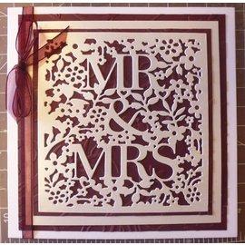 Docrafts / X-Cut Skæring og prægning Stencils: Mr & Mrs