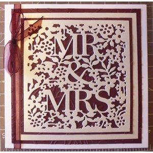 Docrafts / X-Cut Découpage et gaufrage Stencils: Mr et Mrs