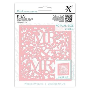 Docrafts / X-Cut Cutting and embossing Stencils: Mr and Mrs