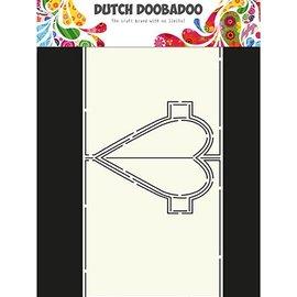 Dutch DooBaDoo A4 maschera di plastica: Carta di arte Cuore Pop Up