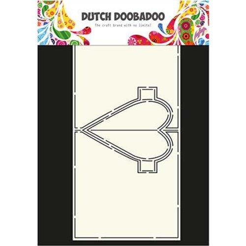 Dutch DooBaDoo A4 plastic masker: Card Hart van de Kunst Pop Up