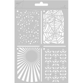 Joy!Crafts / Jeanine´s Art, Hobby Solutions Dies /  Poly Besa, A5 Multi Stencil with 4 different motives