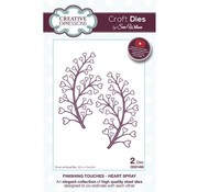 CREATIVE EXPRESSIONS und COUTURE CREATIONS cutting and embossing Stencils: Heart Spray / Swirl