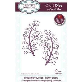 CREATIVE EXPRESSIONS und COUTURE CREATIONS Corte y grabado en relieve de la plantilla: corazón del aerosol / del remolino