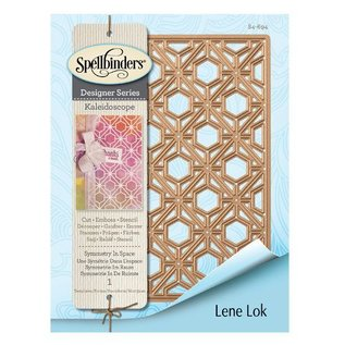 Spellbinders und Rayher Cutting and embossing template: symmetry in space