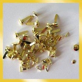 BASTELZUBEHÖR, WERKZEUG UND AUFBEWAHRUNG Clavitos 3 mm de oro (40pcs)