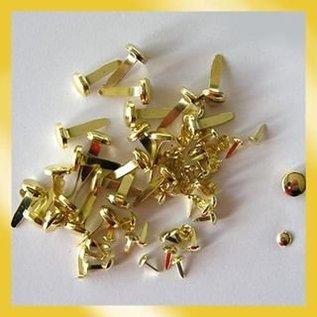 BASTELZUBEHÖR, WERKZEUG UND AUFBEWAHRUNG Brads 3mm Gold (40st)