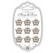 Embellishments / Verzierungen Craft Consortium Pearl stjerne klynge Charm
