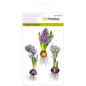 Crealies und CraftEmotions Klar / Gennemsigtig stempel, A6, hyacint