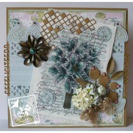 Joy!Crafts / Jeanine´s Art, Hobby Solutions Dies /  Timbre clair / transparent, A6, bouquet de silhouette