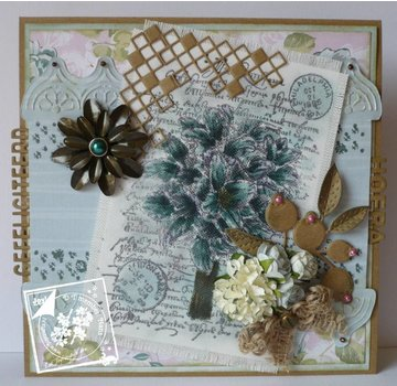 Joy!Crafts / Jeanine´s Art, Hobby Solutions Dies /  Clear / Transparent stamp, A6, silhouette bouquet