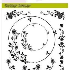 Crealies und CraftEmotions Klar / Transparent frimærke, A6, ornamenter steg