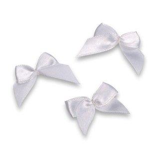 Embellishments / Verzierungen bows, white, 3cm, 10 pieces