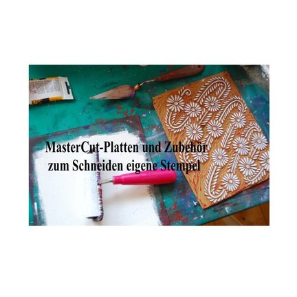 NEW! carving plate and carvin tools for cutting your own stamps