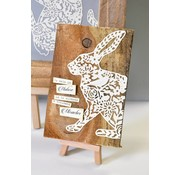 Sizzix cutting and Embossing template: Sizzix Thinlits, size 12,06x15,24 cm, bunny