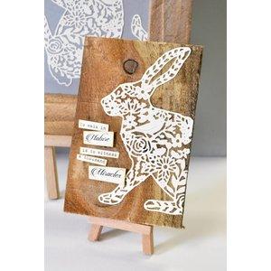 Sizzix Snij- en embossing Sjablone: Sizzix Thinlits, maat 12,06x15,24 cm, konijn