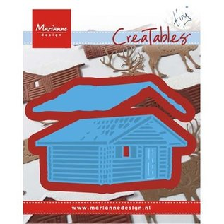 Marianne Design cutting and embossing template: Tiny's Log cabin