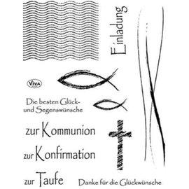 VIVA DEKOR (MY PAPERWORLD) Clear stempel communie, het vormsel en de doop